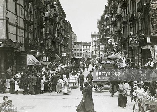 New York: Stanton Street, Lower East Side around the turn of the century. Undated photo. BPA 2