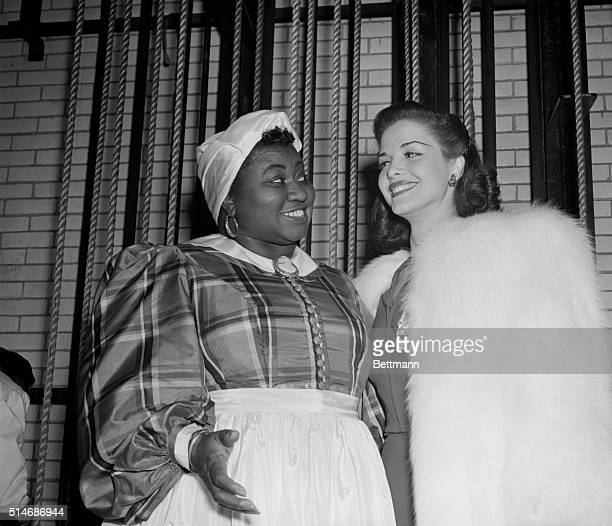 Stars at Greek war relief benefit Hattie McDaniel who won an Academy Award for her role in the movie 'Gone With The Wind' and Carol Bruce musical...