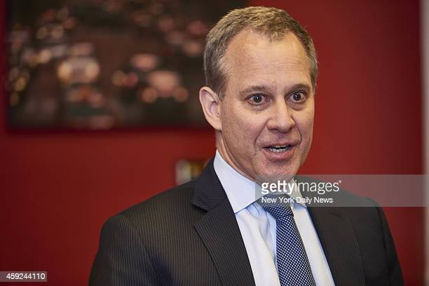New York State Attorney General Eric Schneiderman speaks with the editorial board of the New York Daily News on Wednesday October 22 2014 in New York...