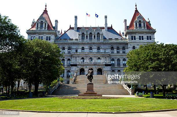 new york state capitol - albany - state capitol building stock pictures, royalty-free photos & images
