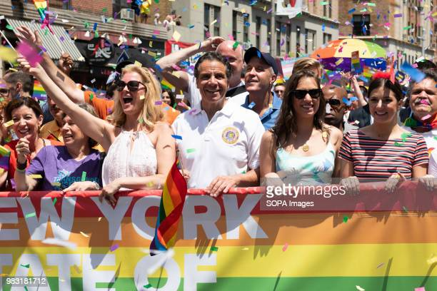 New York State Governor Andrew Cuomo at the Pride March in New York City Thousands took part in the annual Pride March in New York City to promote...