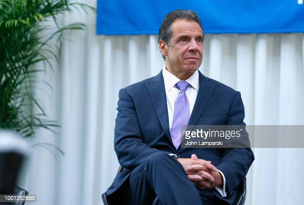 New York State Governor Andrew Cuomo attends the Madison Square Garden celebration of Billy Joel's 100th lifetime show at Madison Square Garden on...