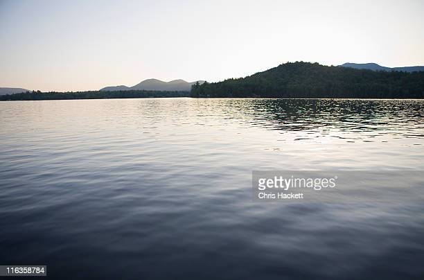 usa, new york state, idyllic landscape with lake - hackett stock photos and pictures