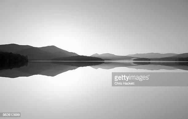 USA, New York State, Lake Placid, Scenic view of lake