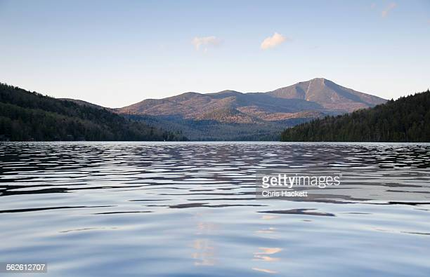 USA, New York State, Lake Placid, Scenic view of lake