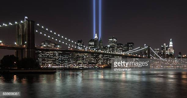 USA, New York State, New York City, 9/11 tribute in light