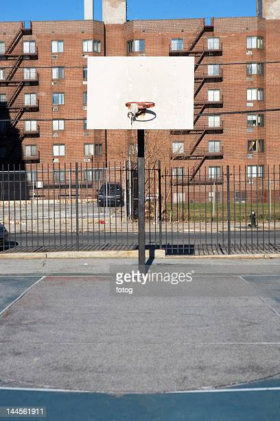 USA, New York State, New York City, basketball playground
