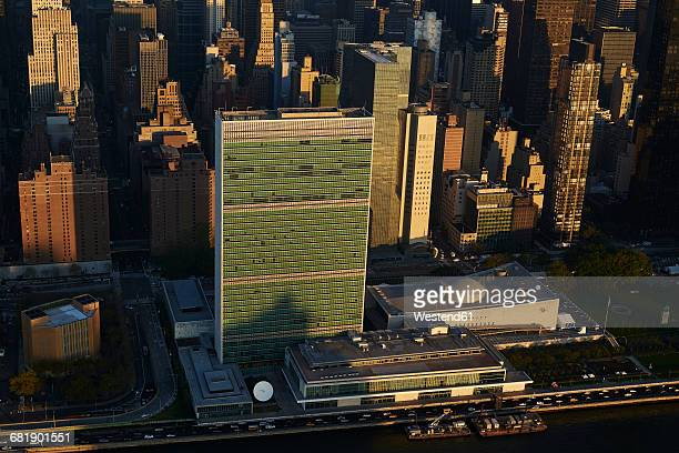 USA, New York State, New York City, business district, United Nations Headquarter