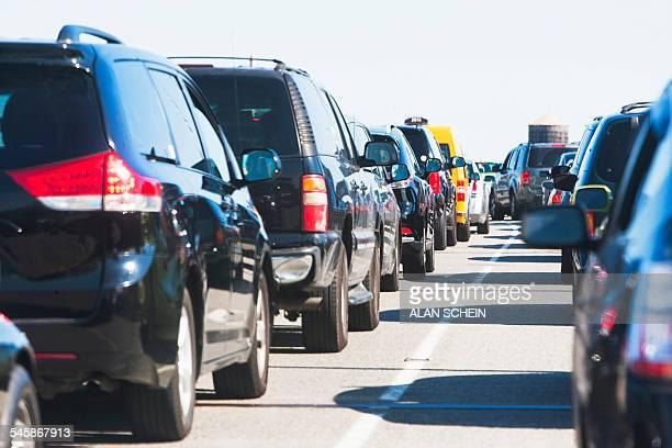 USA, New York State, New York City, Cars in traffic jam