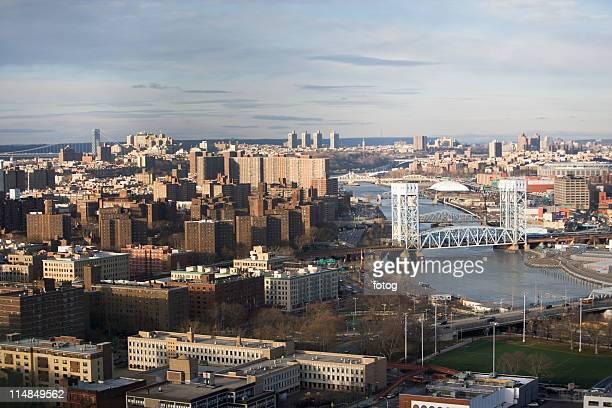 USA, New York State, New York City, Cityscape with Triboro Bridge