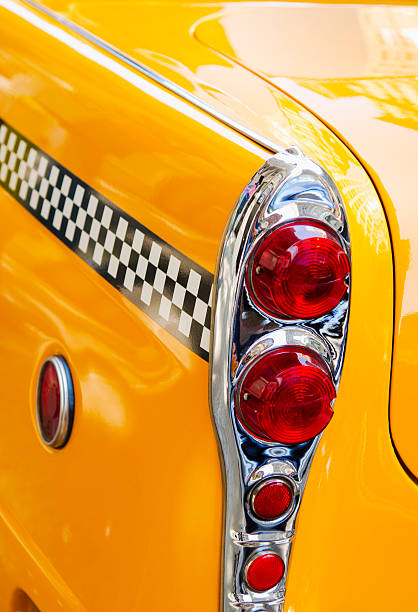 USA, New York State, New York City, Close-up of antique taxi