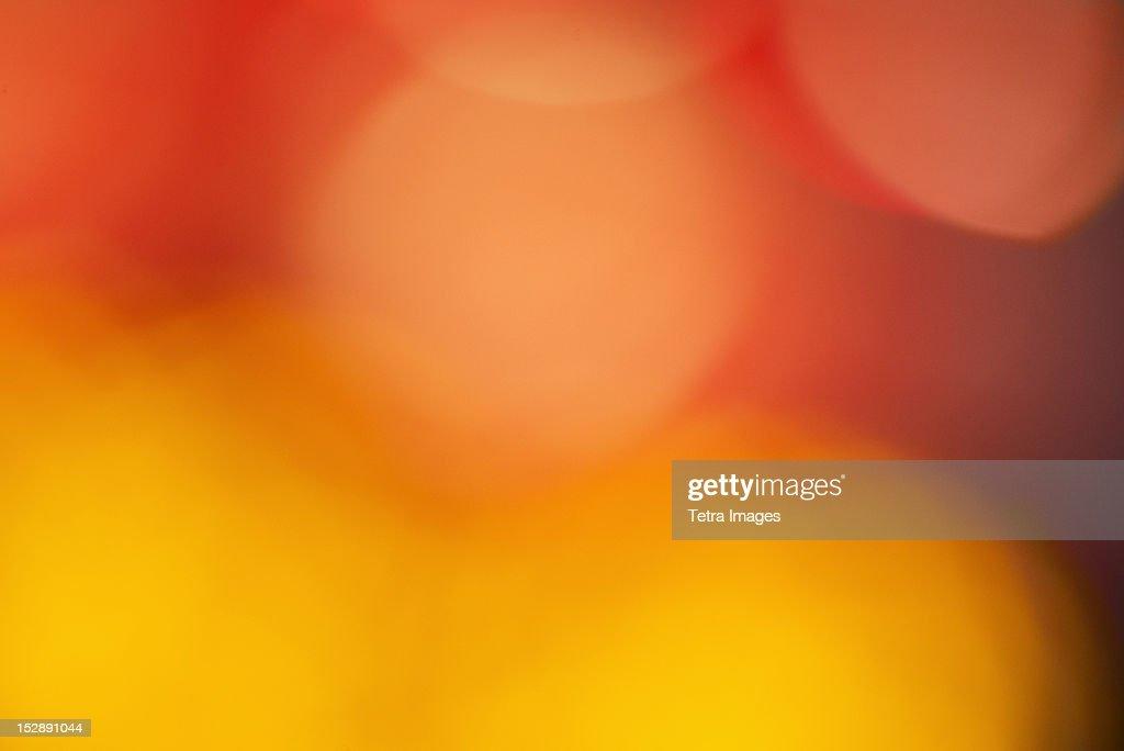 USA, New York State, New York City, Colorful lights : Stock Photo