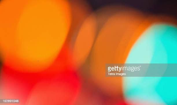 USA, New York State, New York City, Colorful lights