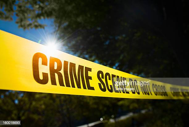 usa, new york state, new york city, crime scene barrier tape - crime stock pictures, royalty-free photos & images