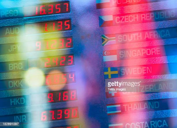 USA, New York State, New York City, Digital trading board