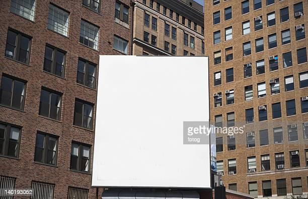 usa, new york state, new york city, empty billboard - new york state fotografías e imágenes de stock