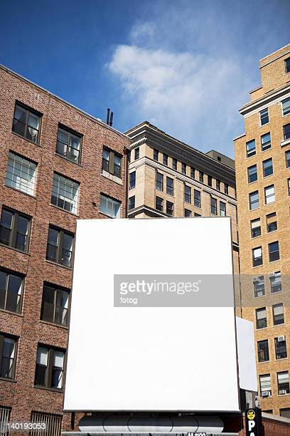 usa, new york state, new york city, empty billboard - vertikal stock-fotos und bilder