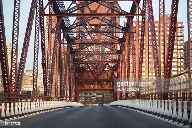 USA, New York State, New York City, Front view of bridge