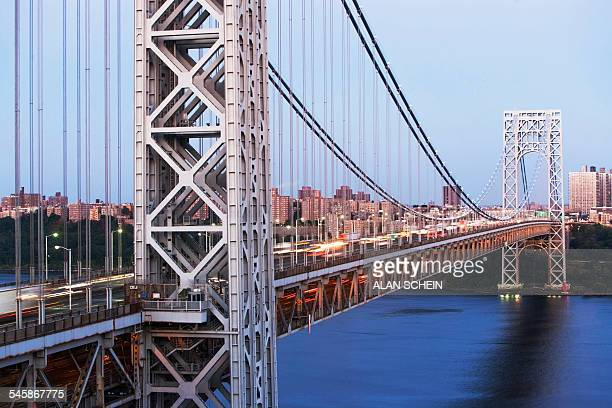 usa, new york state, new york city, george washington bridge - george washington bridge stock pictures, royalty-free photos & images