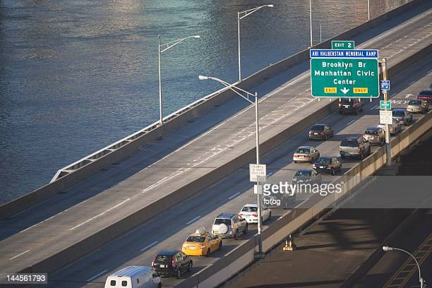 USA, New York State, New York City, highway with cars
