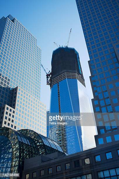 USA, New York State, New York City, Low angle view of World Freedom Tower