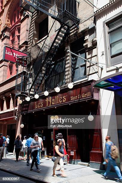 USA New York State New York City Manhattan Exterior of Les Halles Bistro in John Street