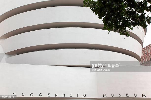 USA New York State New York City Manhattan Exterior of the Solomon R Guggenheim Museum on 5th Avenue