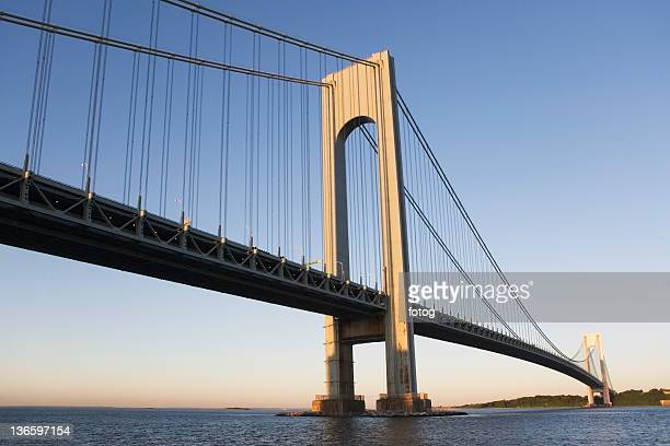 USA, New York State, New York City, Manhattan, Verrazano-Narrows Bridge