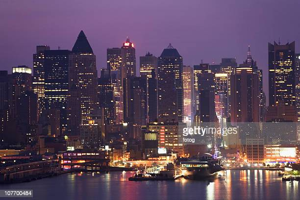 usa, new york state, new york city, skyline seen from new jersey - state stock pictures, royalty-free photos & images