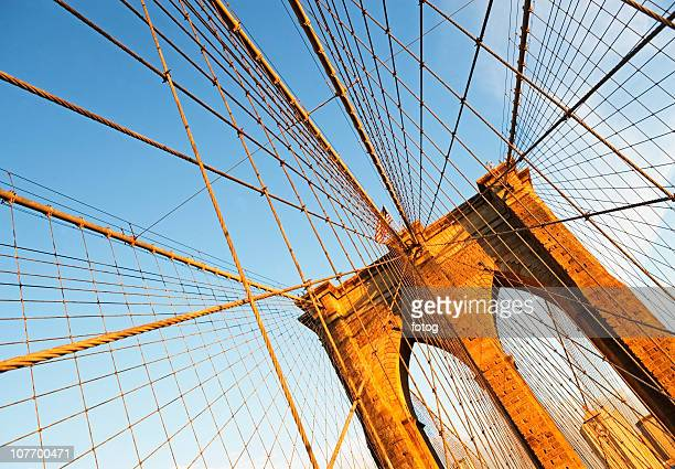 usa, new york state, new york city, span of brooklyn bridge - state stock pictures, royalty-free photos & images