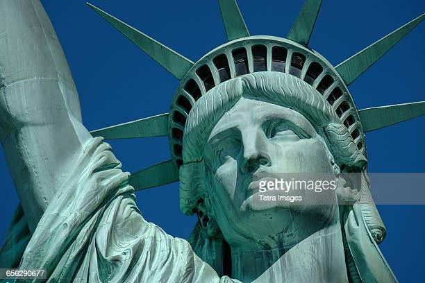 USA, New York State, New York City, Statue of Liberty against clear sky