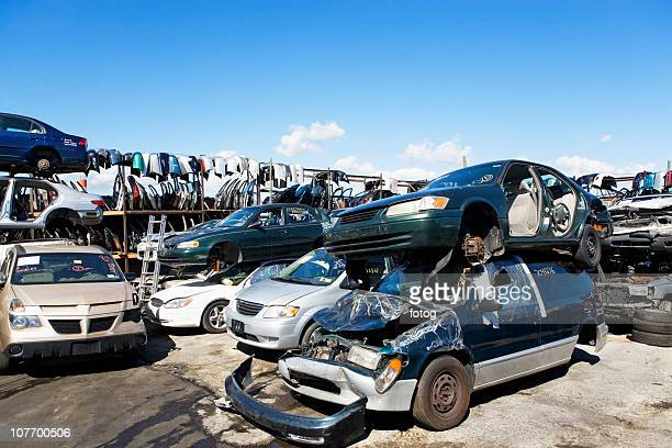 usa, new york state, new york city, the bronx, junkyard - junkyard stock photos and pictures