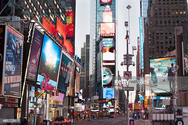 USA, New York State, New York City, Time Square at dusk