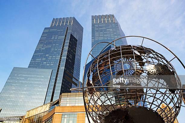 usa, new york state, new york city, time warner center, low angle view - タイムワーナーセンター ストックフォトと画像