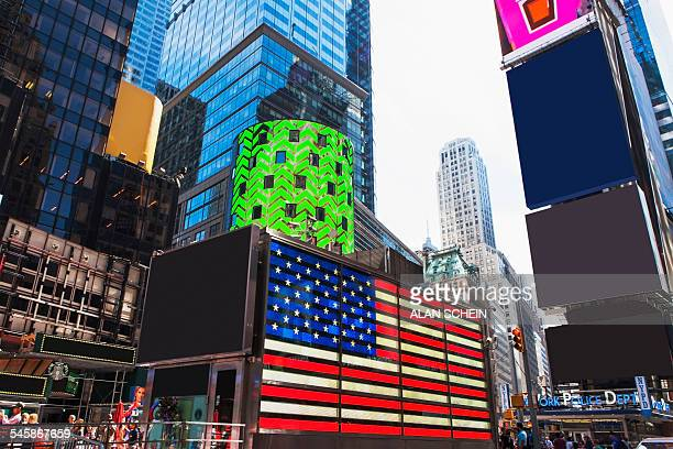 USA, New York State, New York City, Times Square at dusk