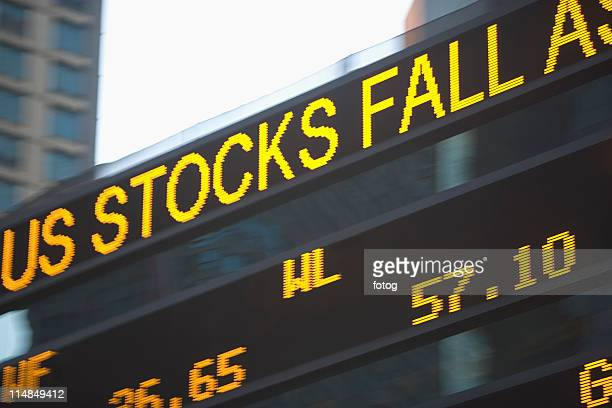 USA, New York State, New York City, Times Square, Stock Quotron, close-up
