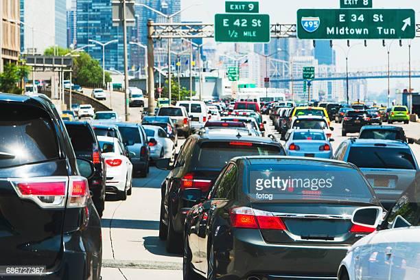USA, New York State, New York City, Traffic in city street