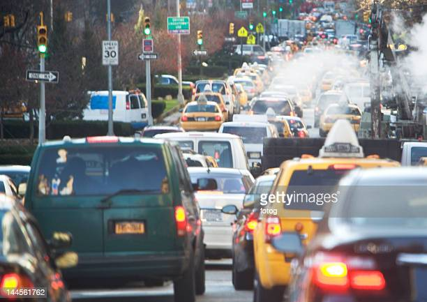 USA, New York state, New York city, traffic jam