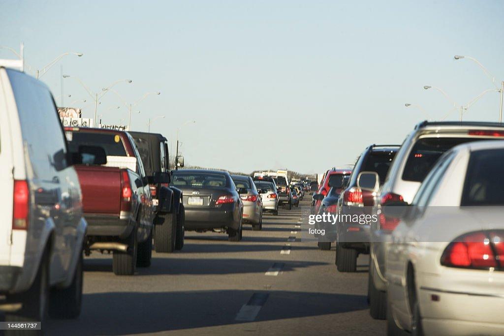 USA, New York State, New York City, Traffic on road : Stock Photo