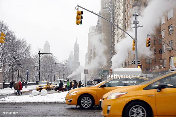 USA, New York State, New York City, Traffic on street