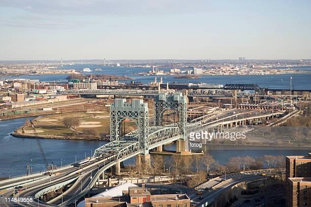 usa, new york state, new york city, triboro bridge - east harlem - fotografias e filmes do acervo