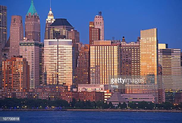usa, new york state, new york city, view of battery park - state stock pictures, royalty-free photos & images