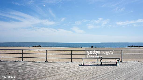 usa, new york state, new york city, view of brighton beach - boardwalk stock pictures, royalty-free photos & images