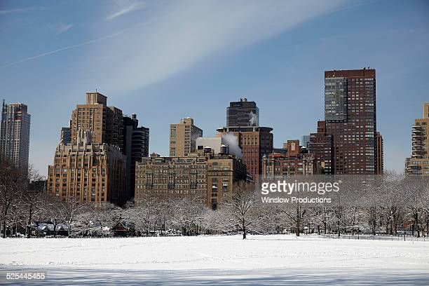 USA, New York State, New York City, View of Central Park at winter