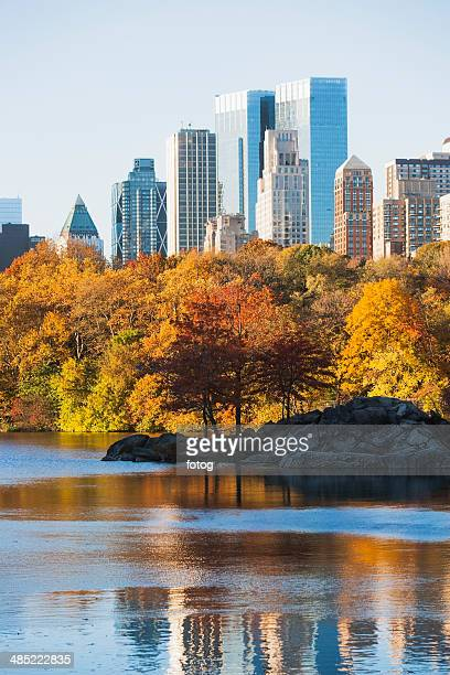 USA, New York State, New York City, View of Central Park in autumn
