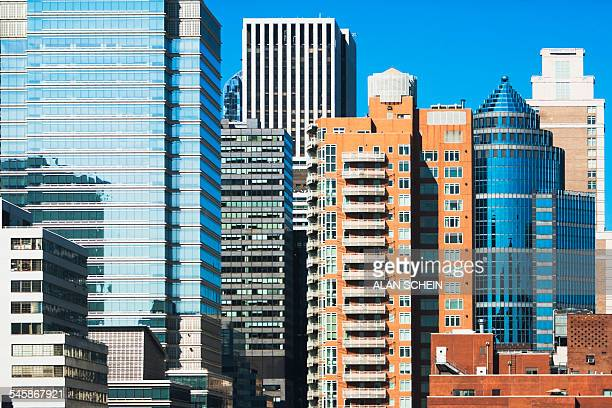 usa, new york state, new york city, view of skyscrapers - midtown manhattan stock pictures, royalty-free photos & images