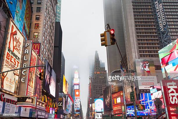 USA, New York State, New York City, View of Time Square at dusk