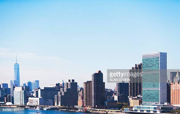 USA, New York State, New York City, View of United Nations Headquarters