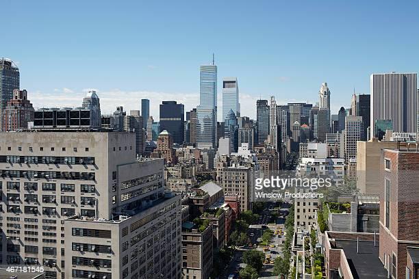 usa, new york state, new york city, view to manhattan - パークアベニュー ストックフォトと画像