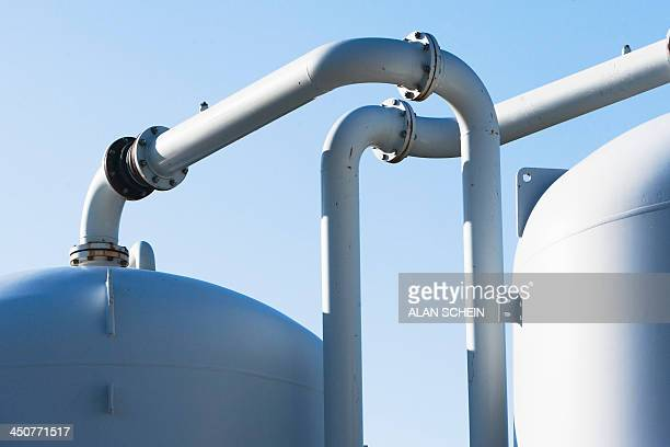 USA, New York State, New York City, Water pipes in city